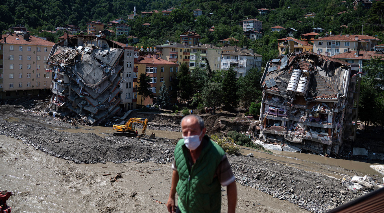 Flooding in the city of Bozkurt in the Kastamonu region of the Black Sea region of Turkey Yasin AKGUL / AFP