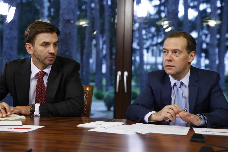 Abyzov with Medvedev Dmitry Astakhov / TASS