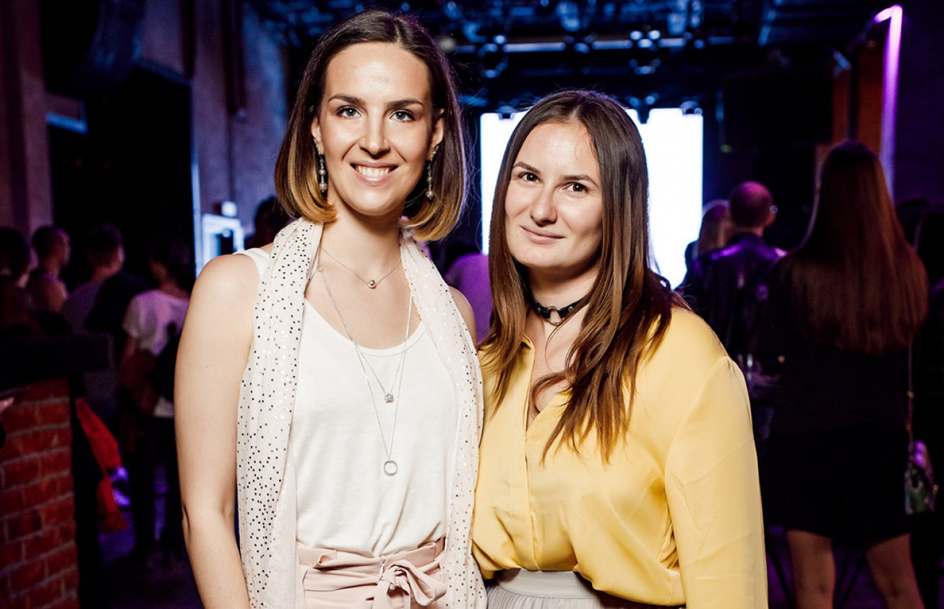 Kinky Party founders Taisia Reshetnikova and Tanya Dmitriyeva.  				 				Kinky Party