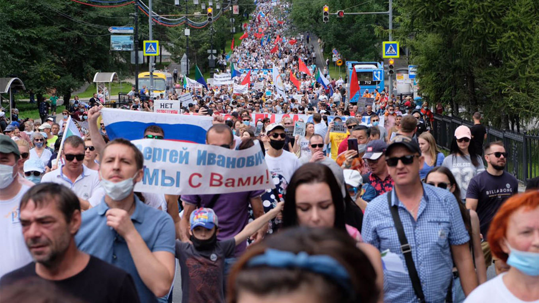 Protesters in Khabarovsk. Dmitry Morgulis / TASS