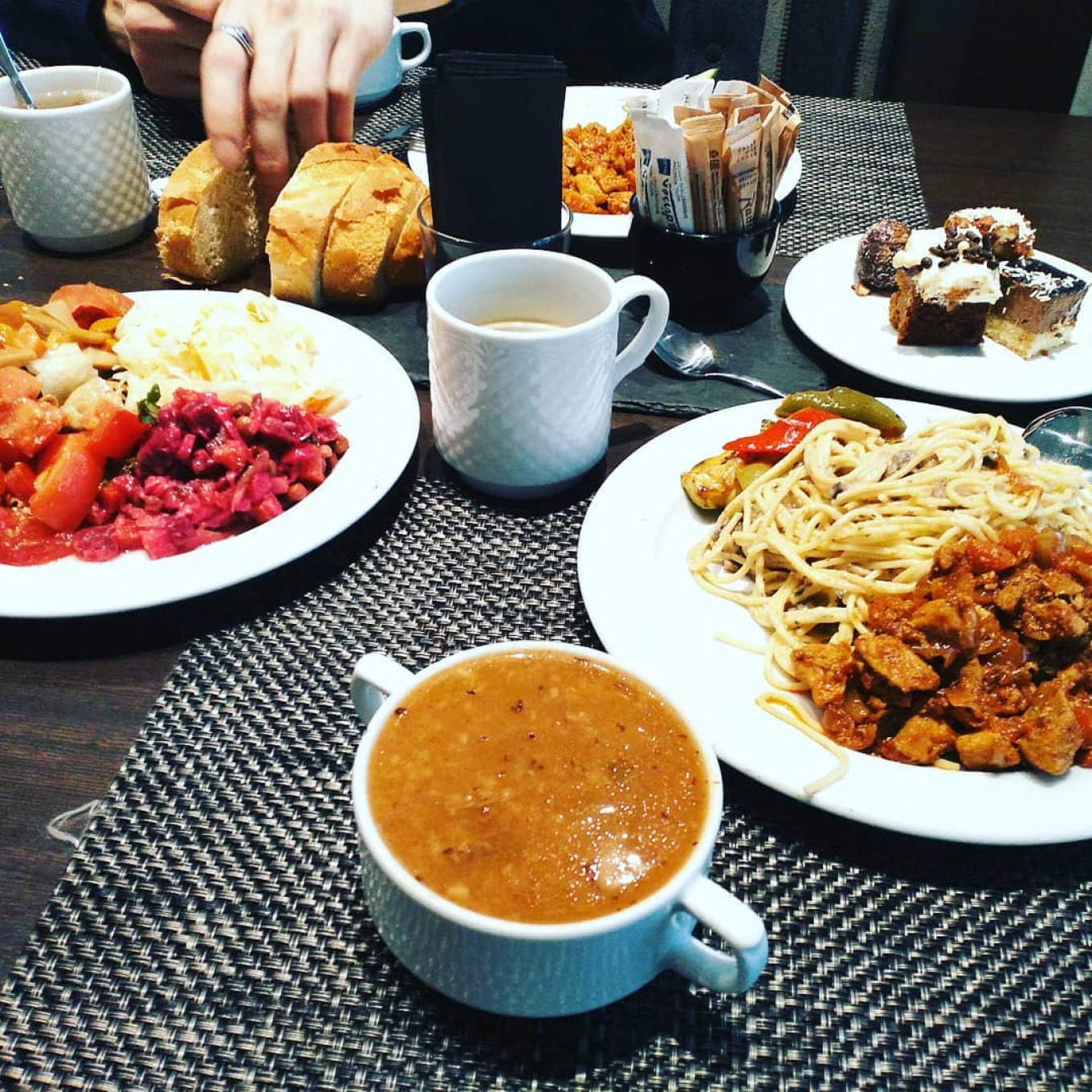 Participants posted social media snaps of their four-star hotels and buffet meals. Instagram / Rezchkik666