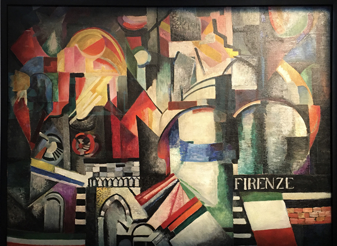 """Alexandra Exter's """"Florence,"""" 1915 now in the State Tretyakov Gallery on loan to AZ Museum Michele A. Berdy / MT"""