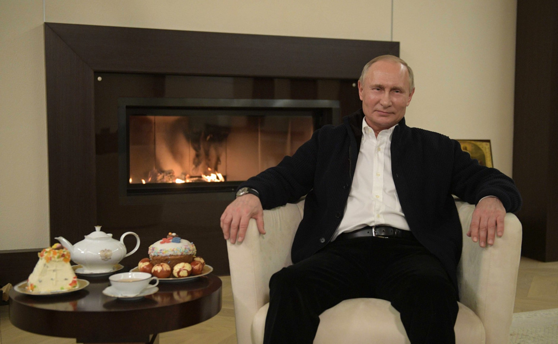 Vladimir Putin delivering his Easter message. Kremlin.ru