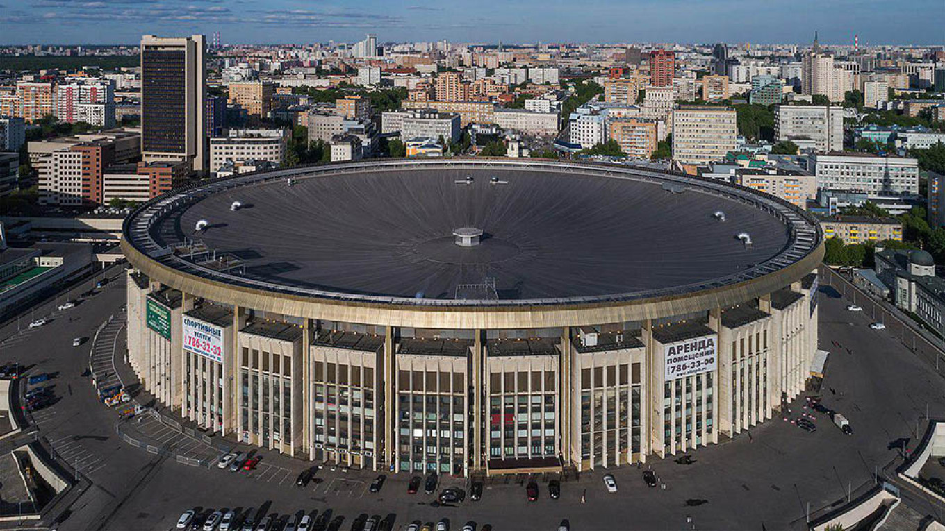 Moscow's Olympiisky Stadium, built for the 1980 Summer Olympics, is now a mall. Wikicommons