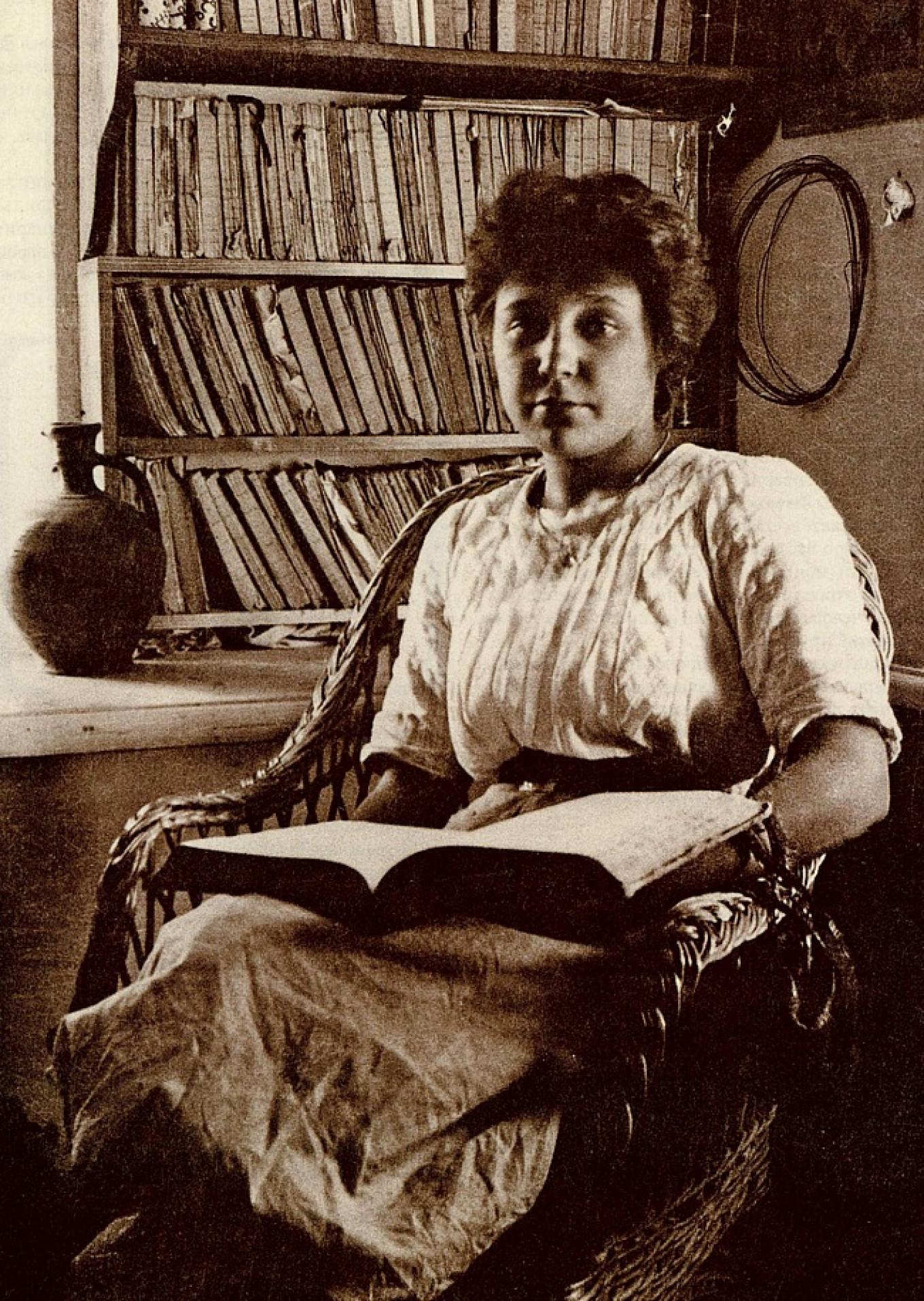 A photograph of Marina Tsvetaeva taken in the Crimean village of Koktebel in 1911. Maximilian Voloshin