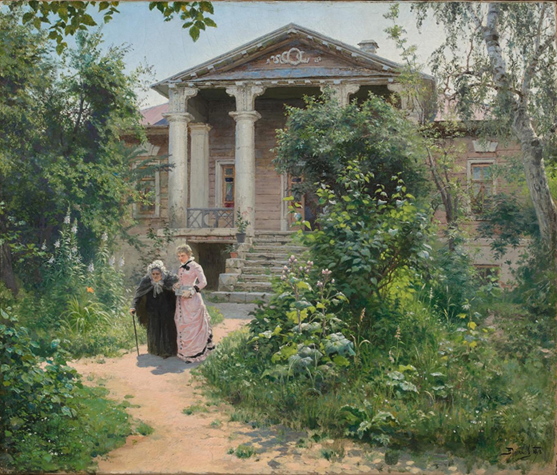 """Grandmother's Garden,"" 1878 Courtesy of the State Tretyakov Gallery"