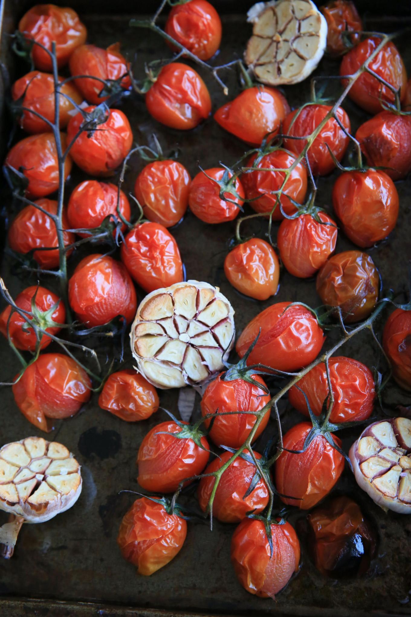 Roasted tomatoes and garlic bring depth of flavor Jennifer Eremeeva / MT