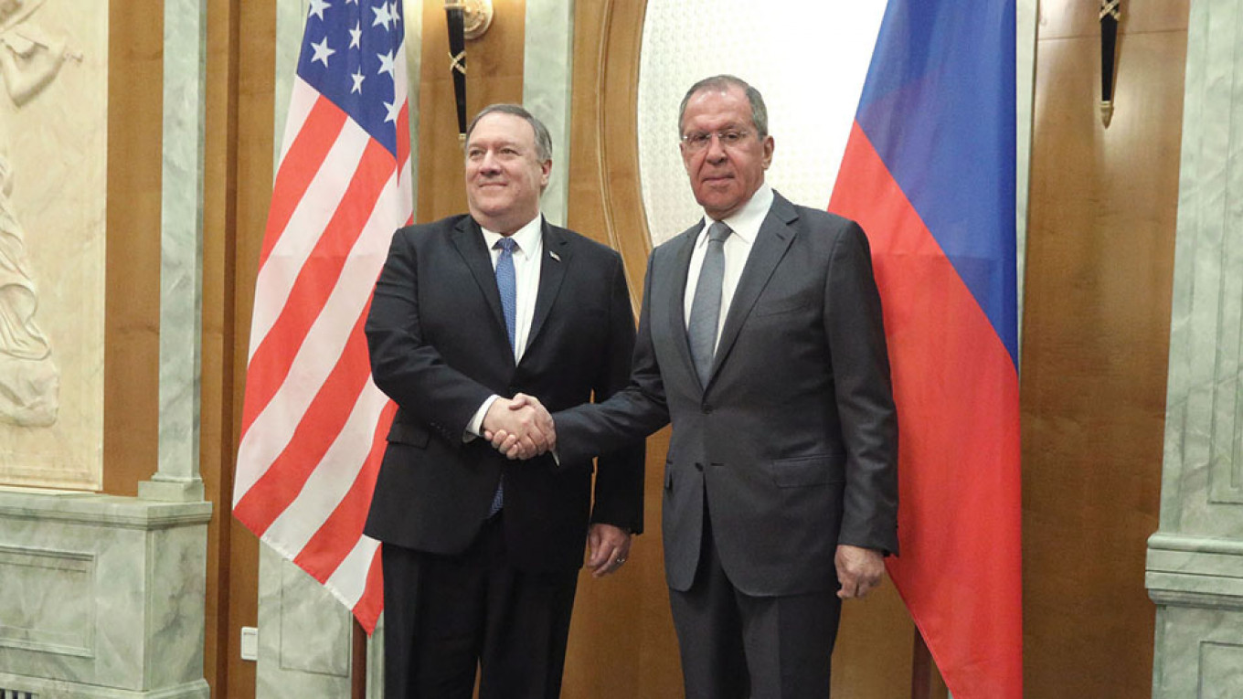 Mike Pompeo and Serei Lavrov				 				Russian Foreign Ministry