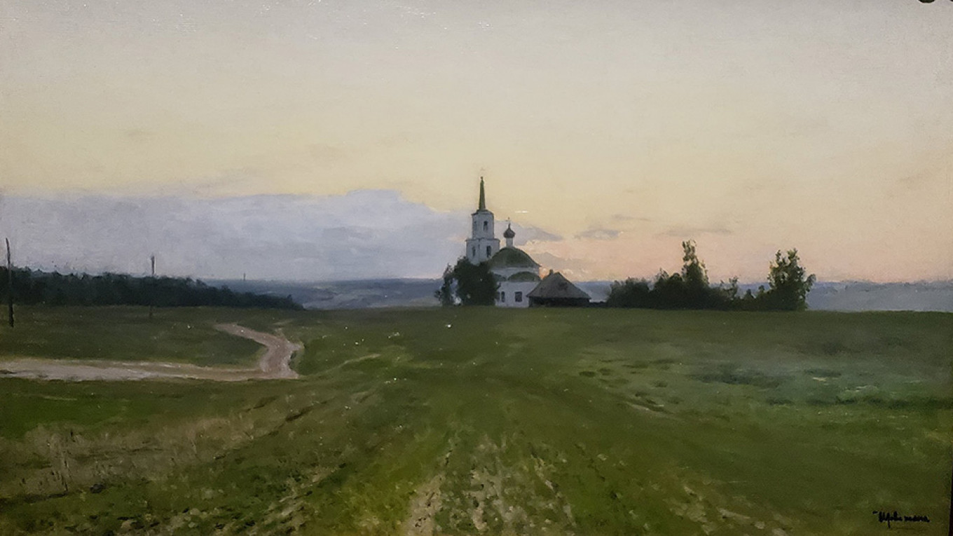 """""""Just Before Evening Falls,"""" Isaac Levitan Wikicommons"""
