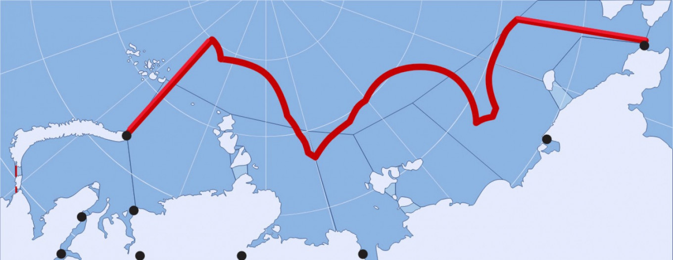 The Northern Sea Route includes the waters between archipelago Novaya Zemlya and the Bering Strait. Barents Observer