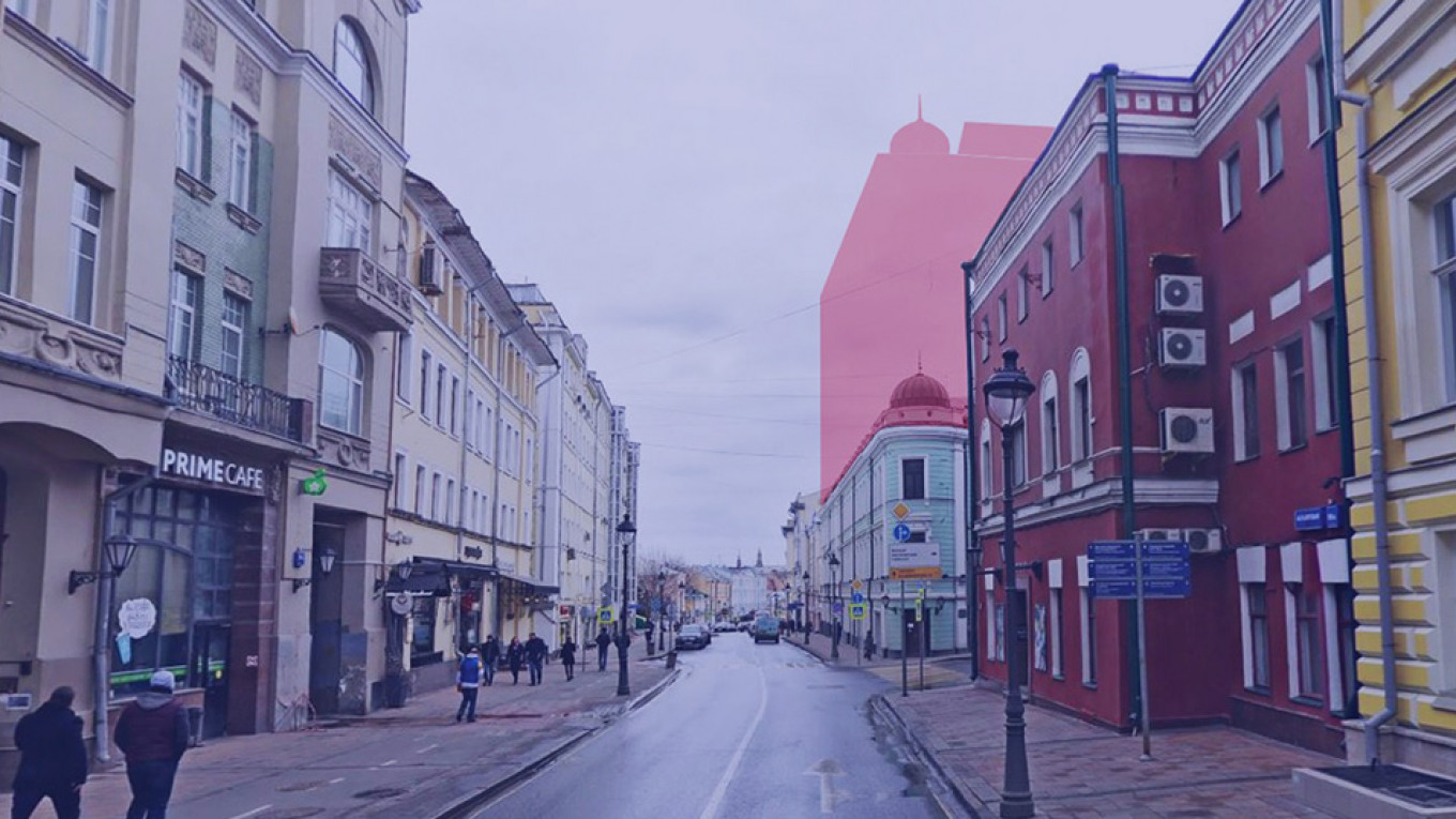 How the streetscape would change. Arkhnadzor