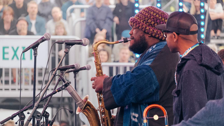 Kamasi Washington was one of the festival hits. Konstantin Kondrukhov / Courtesy of Flow Festival