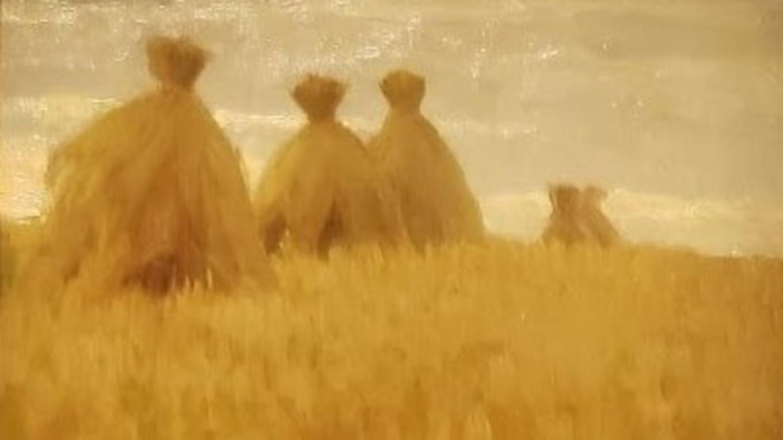 """Haystacks,"" Isaac Levitan Wikicommons"