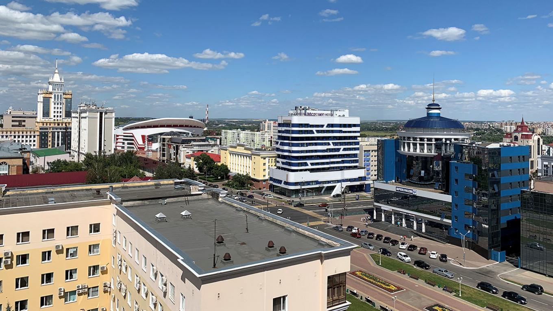 Saransk's skyline. Around 300,000 people live in the city. Vyacheslav Bukharov (CC BY-SA 4.0)