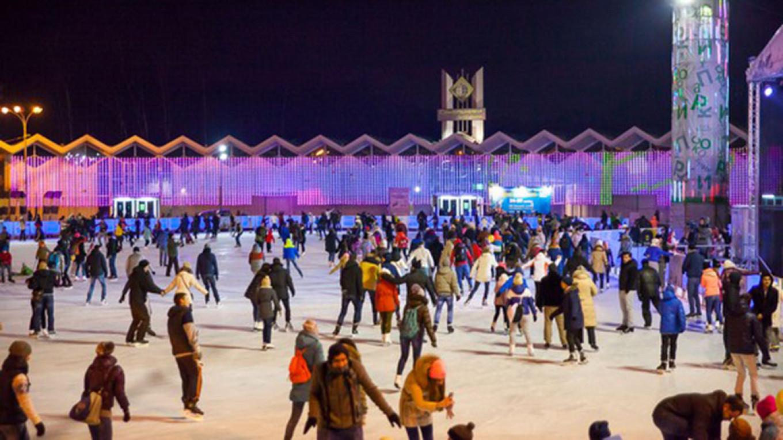 The ice at Sokolniki is considered the best outdoor surface  Courtesy of Sokolniki Park