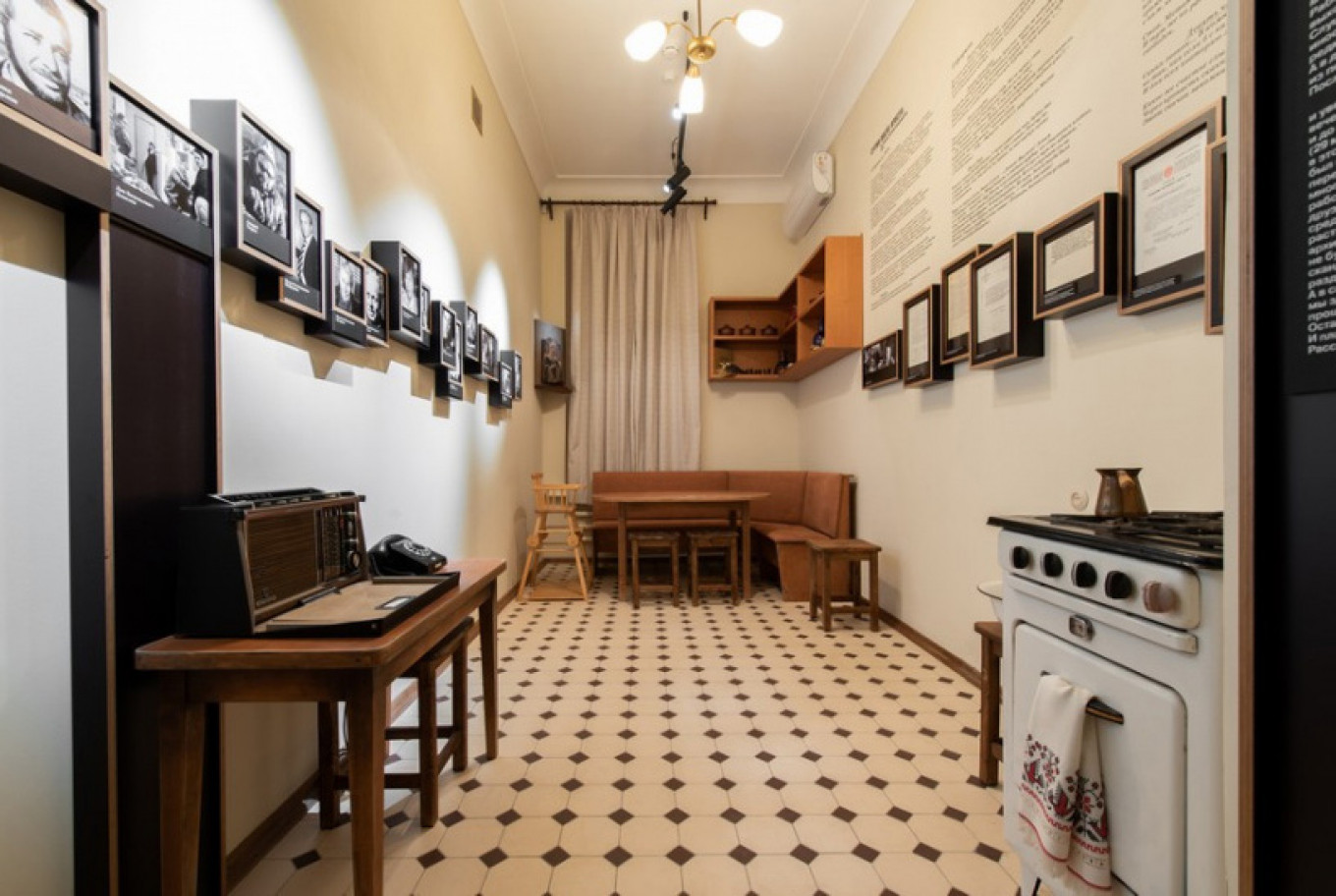 The kitchen (note the highchair). Courtesy of A. Solzhenitsyn House of Russian Expatriates