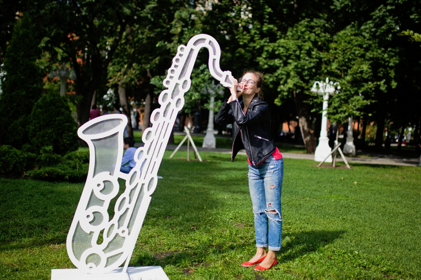 Every year the Hermitage Garden welcomes Jazz in the Garden.  Hermitage Garden