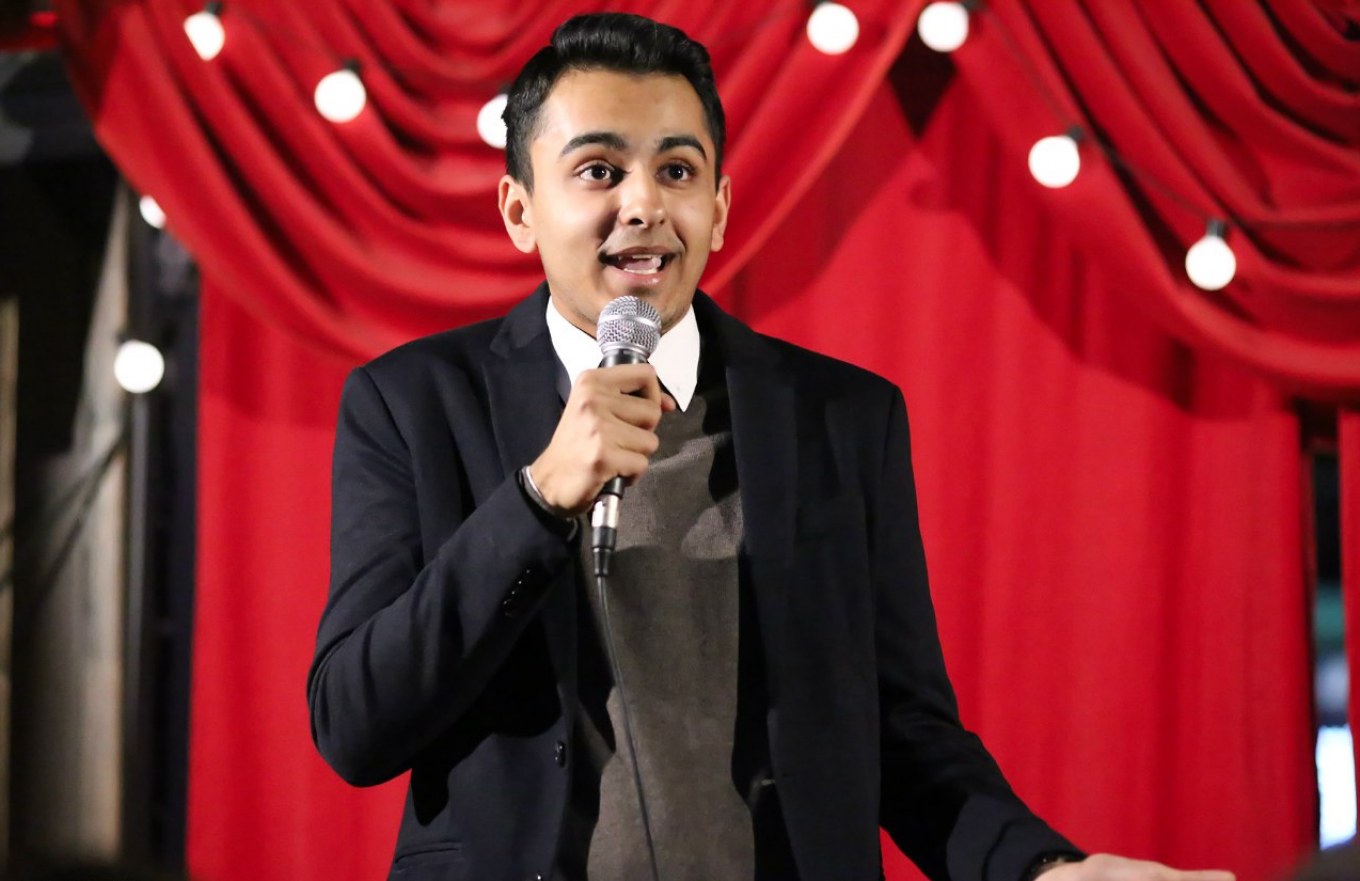 Arun Khurana says his main comedy influences are Dave Chappelle, Chris Rock and Eddie Murphy, whom he admires for their 'level of energy.' SERGEI LYUTKO
