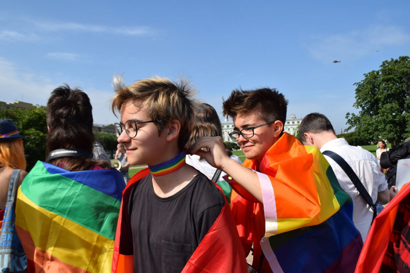 """This year was a partial victory for the LGBT community in Russia after the ECHR ruled the so-called """"gay propaganda"""" law was discriminatory. Francesca Visser and Andreas Rossbach"""