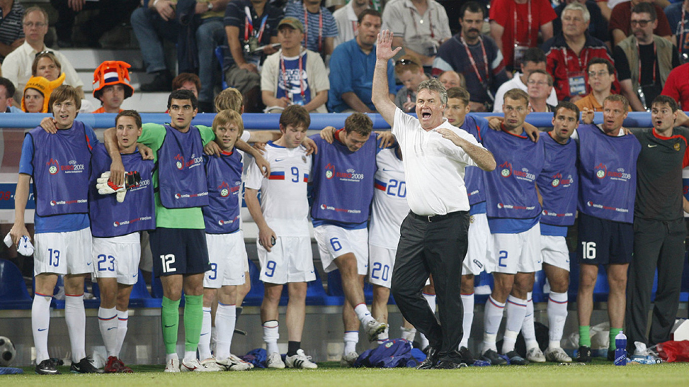 Former coach Guus Hiddink led Russia's national team to the semifinals of the UEFA Euro in 2008. Aleksander Fyodorov / Sport Express / TASS