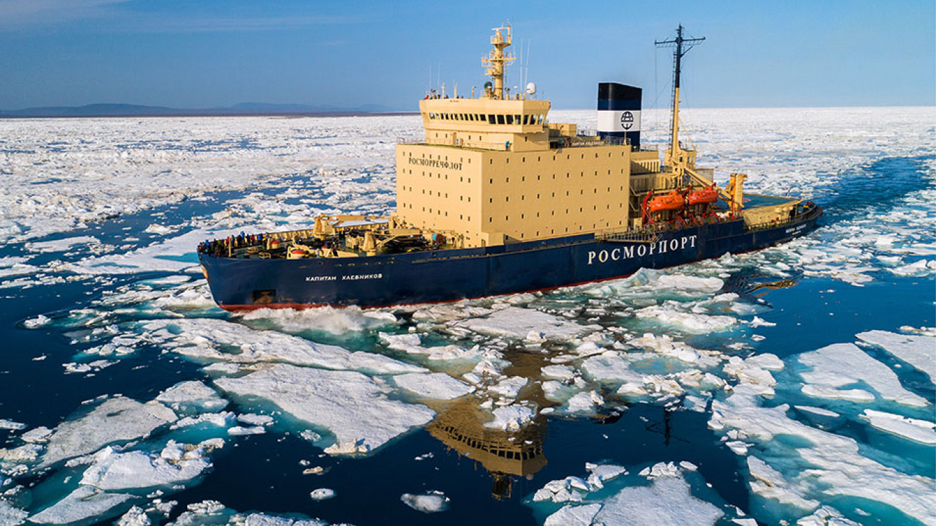 Russia's Nuclear-Powered Icebreaker Escorts Up 54% in 2019