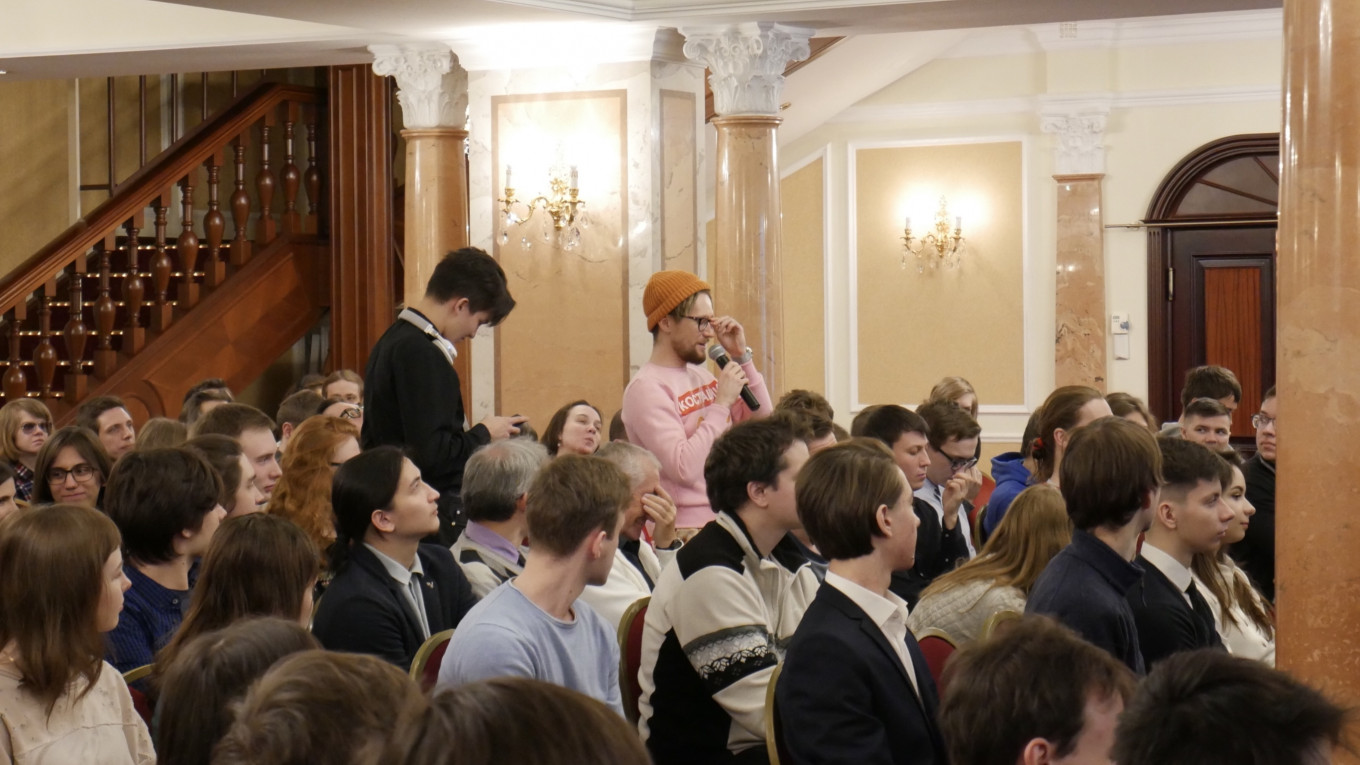 Young people packed the hall of the fifth annual Ayn Rand Conference in St. Petersburg on Saturday. Daniel Kozin