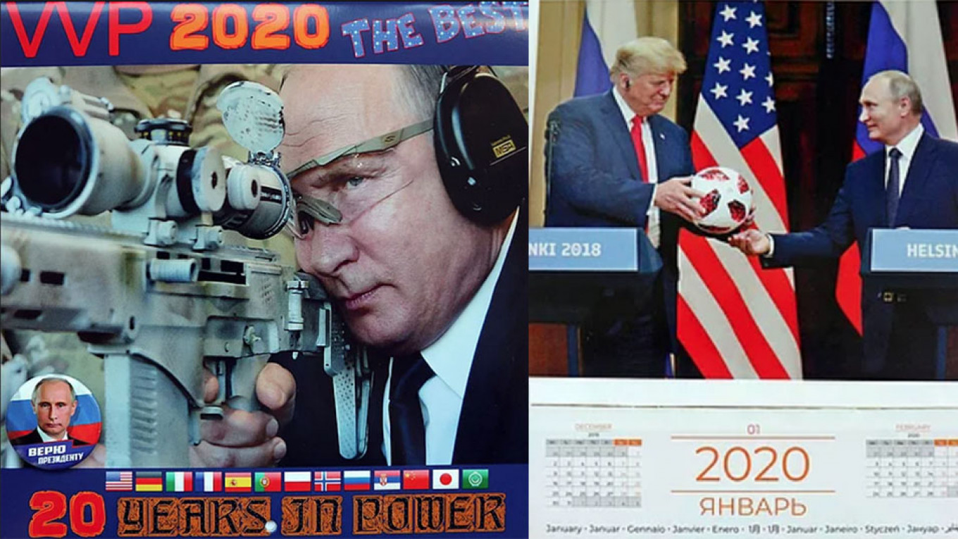 Putin S 2020 Calendar Shows A Less Shirtless Side Of Russia S President The Moscow Times