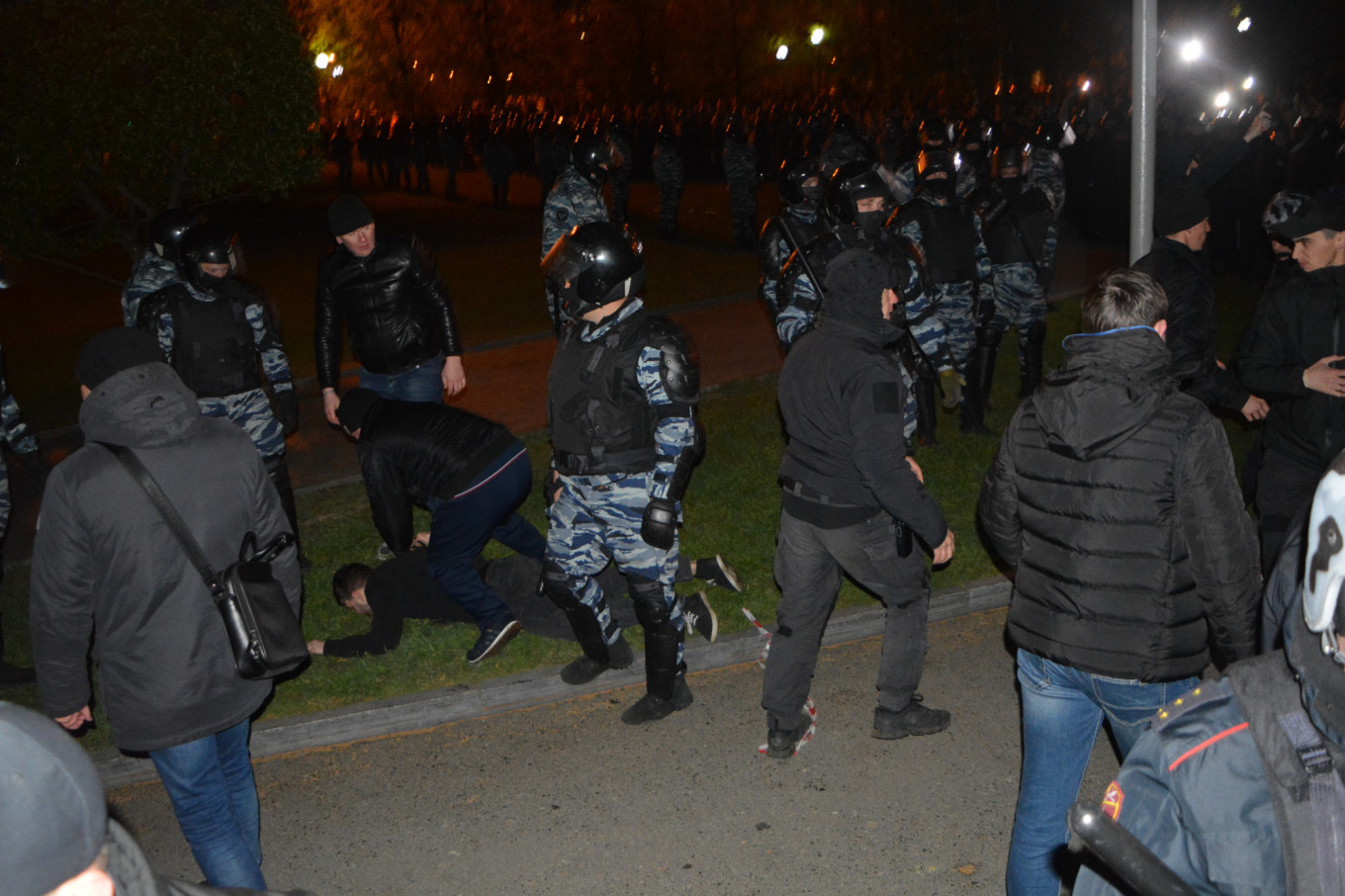 There were dozens of arrests and detentions. Ivan Zhilin
