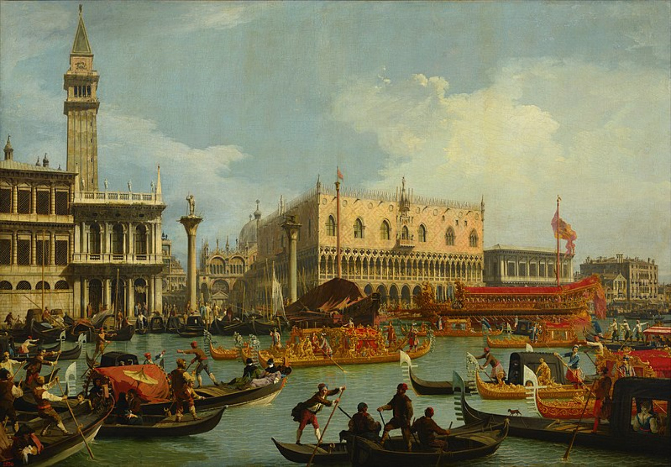 """Canaletto's """"Bucentaur's Return to the Pier by the Palazzo Ducale"""" is one of the real treasures of the show. Wikicommons"""