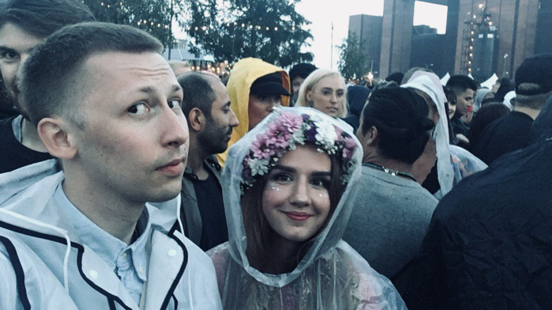 Davydenko and Bushmina on a wet evening. Anna Bushmina / MT Anna Bushmina / MT
