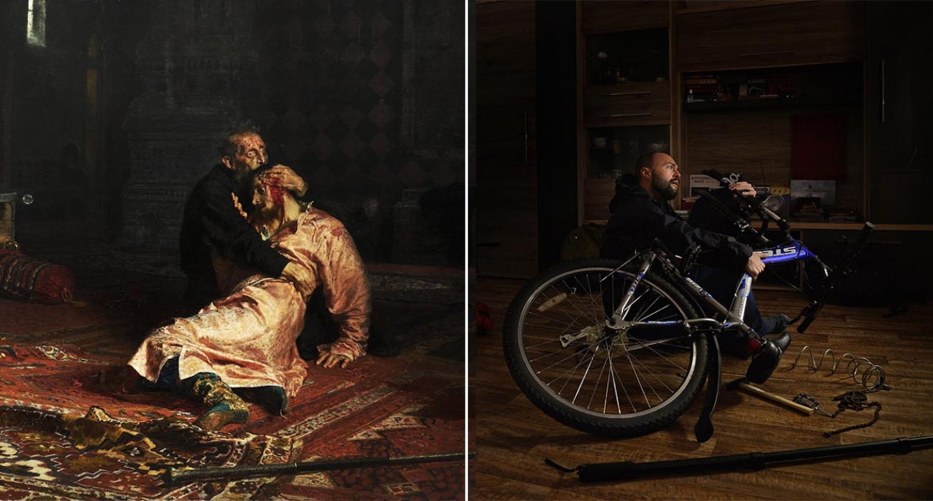 """Russian Facebook project ART-ISOLATION. """"Ivan the Terrible and His Son Ivan,"""" Ilya Repin, 1885. Alexi Witwicki / Facebook"""