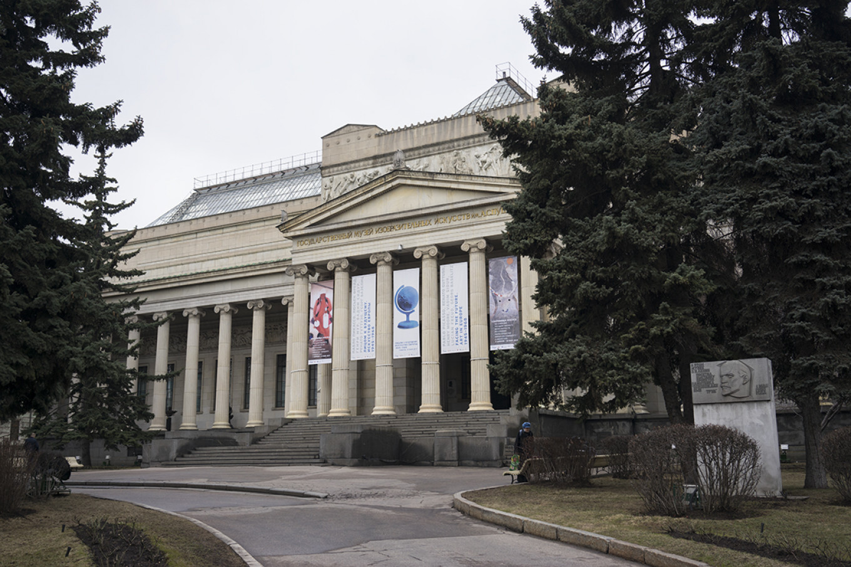 Main building of the Pushkin State Museum of Fine Arts. Albina Shaimuratova