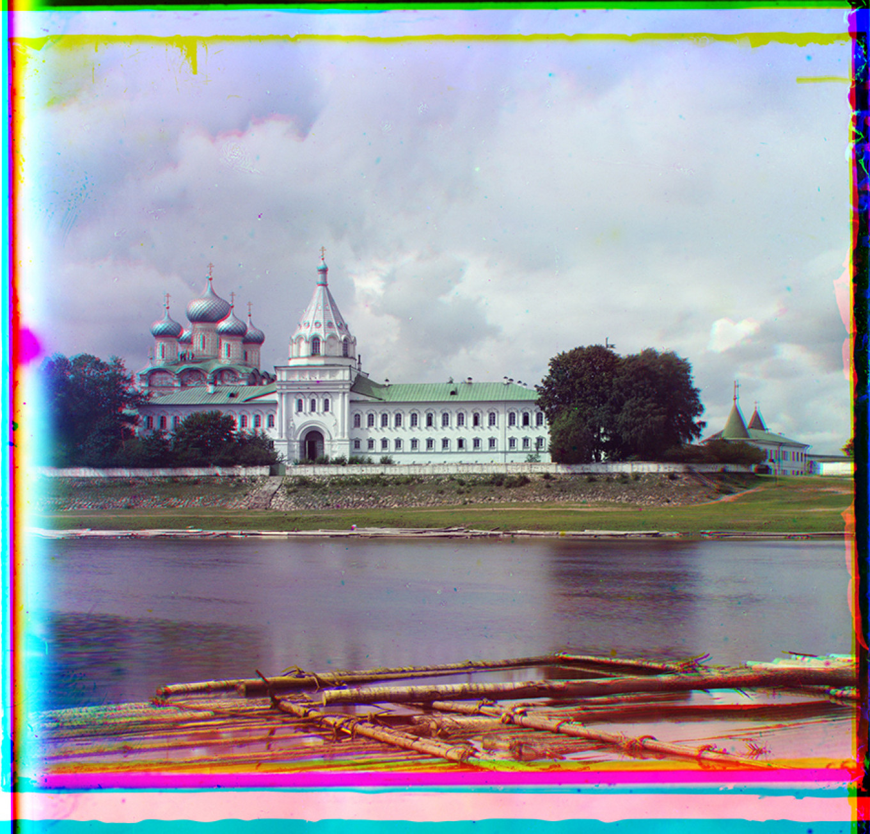 Trinity-Ipatiev Monastery across Kostroma River, Summer 1911. S Prokudin-Gorsky 21304