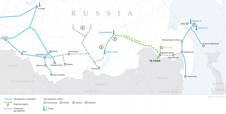Gazprom's Siberian pipeline network gazprom.com