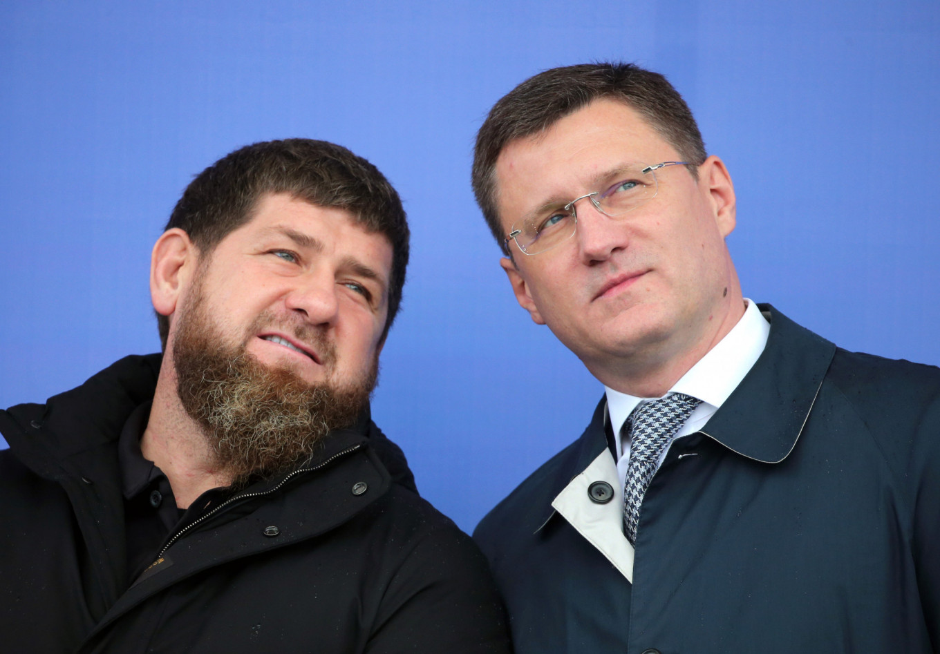 Alexander Novak (right), has been appointed a deputy prime minister in the reshuffle. Pictured earlier November with Chechen leader Ramzan Kadyrov (left) at the opening of a digital electricity substation.  Yelena Afonina/TASS