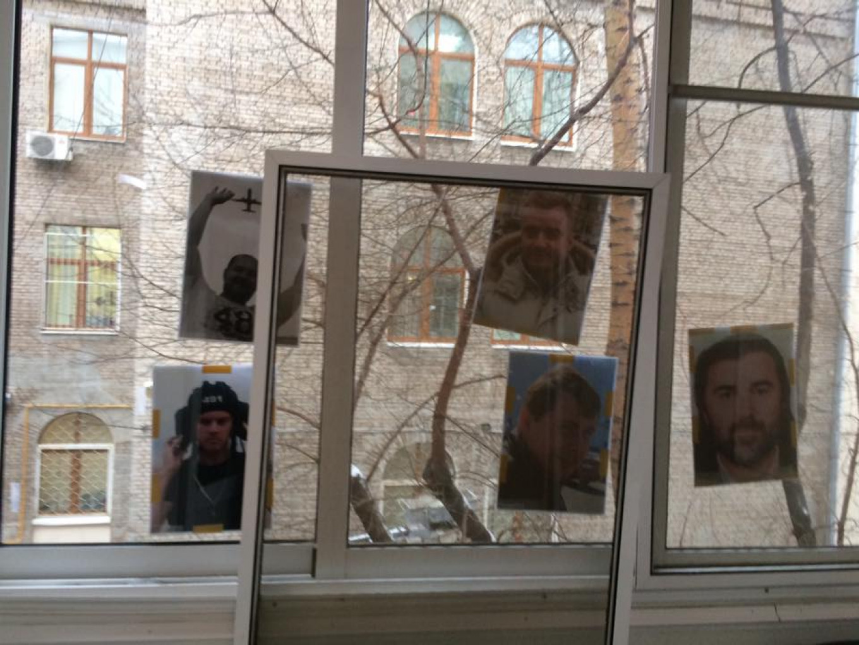 Photos allegedly left by an intruder on Rynska's balcony in Moscow. Bozhena Rynska / Facebook
