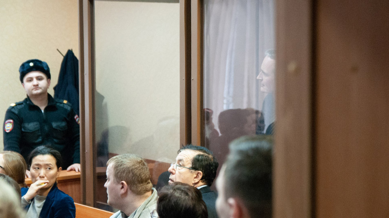 Dennis Christensen at the Oryol court Courtesy of Jehovah's Witnesses