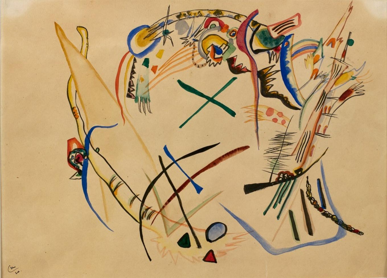 Wassily Kandinsky, 'Sketch', 1920. Yaroslavl Art Museum.