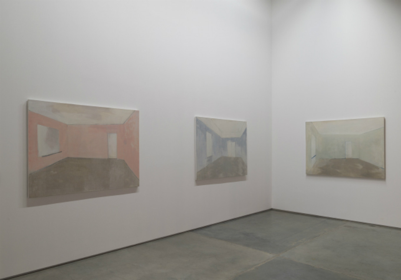Alexandra Paperno's 'Suspense' triptych is displayed under the theme of 'Common Language.'  Garage Museum of Contemporary Art