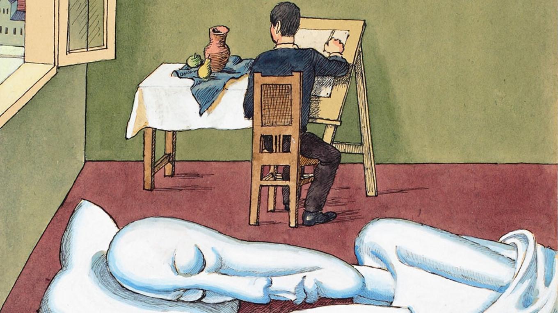 """""""Sunday Drawing"""" by Viktor Pivovarov, 1996  Courtesy of MMAM"""