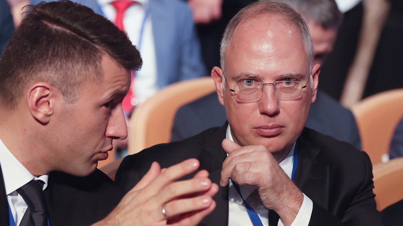 Kirill Dmitriev, right. Andrey Rudakov / Bloomberg