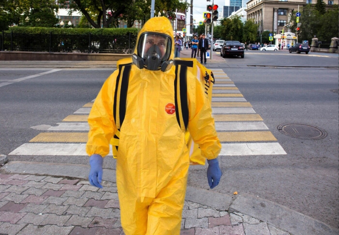 Putin S Yellow Coronavirus Suit The Suit That Launched 1 000 Memes The Moscow Times