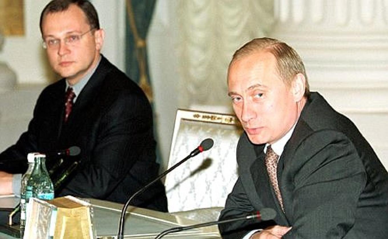 Vladimir Putin introduces Sergey Kirienko to the regional heads of the Povolzhye government. June 2, 2000. Kremlin Press Service