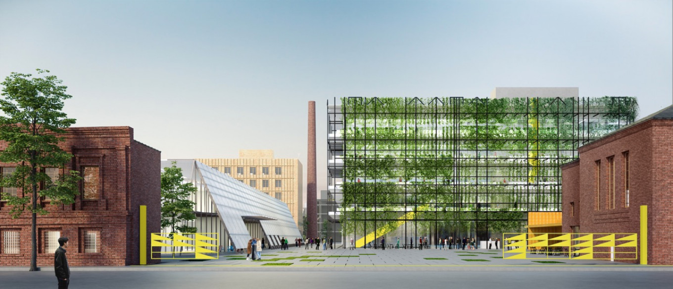 Alexander Alyayev's Santekhripribor factory project was full of references to the plant's history.  The Institute for Urban Development of the Republic of Tatarstan