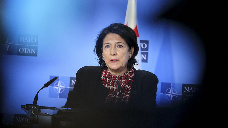 Georgian President Salome Zourabichvili NATO