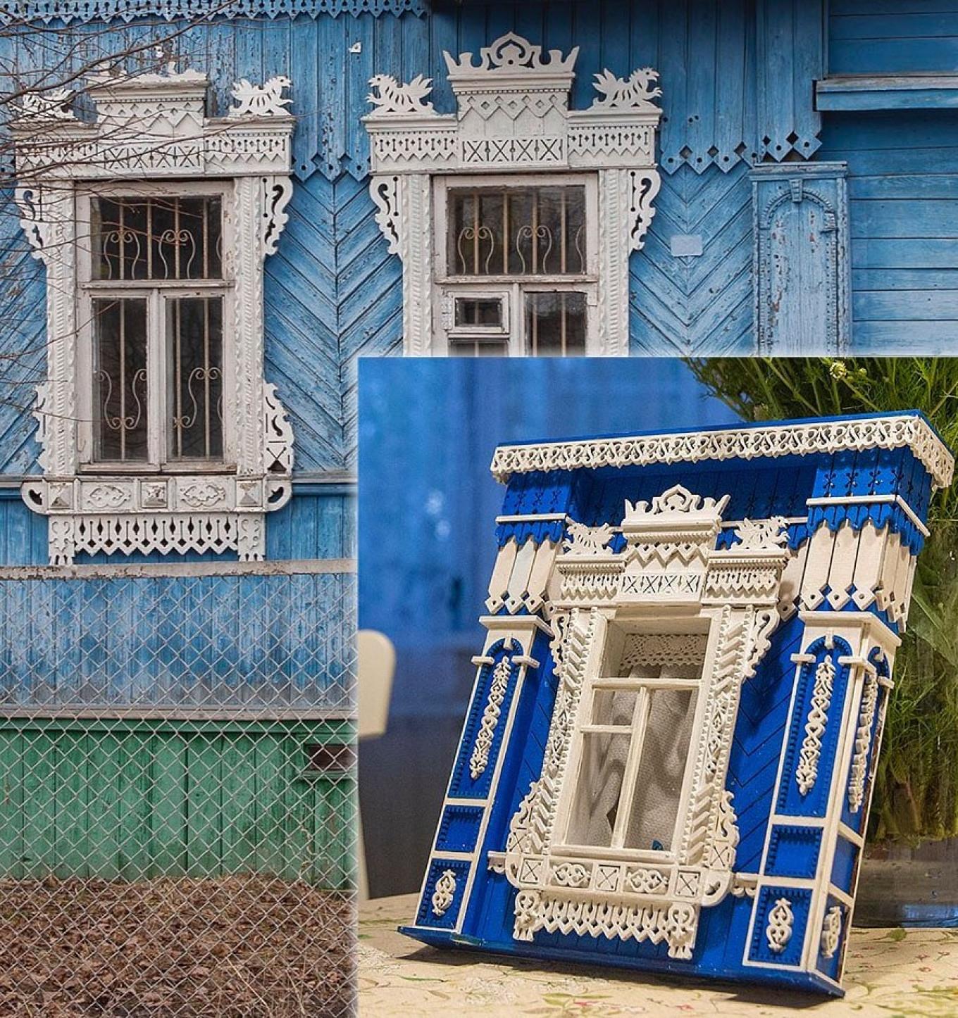 House in Konakovo (nalichniki now gone) and model Courtesy of Ivan Khafizov