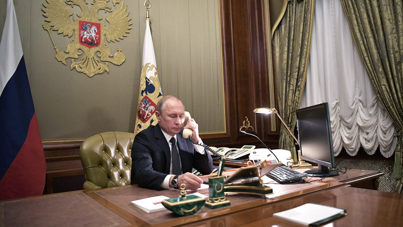 Trump-Putin Phone Calls Can Only Be Disclosed With Russian Consent, Kremlin  Says - The Moscow Times