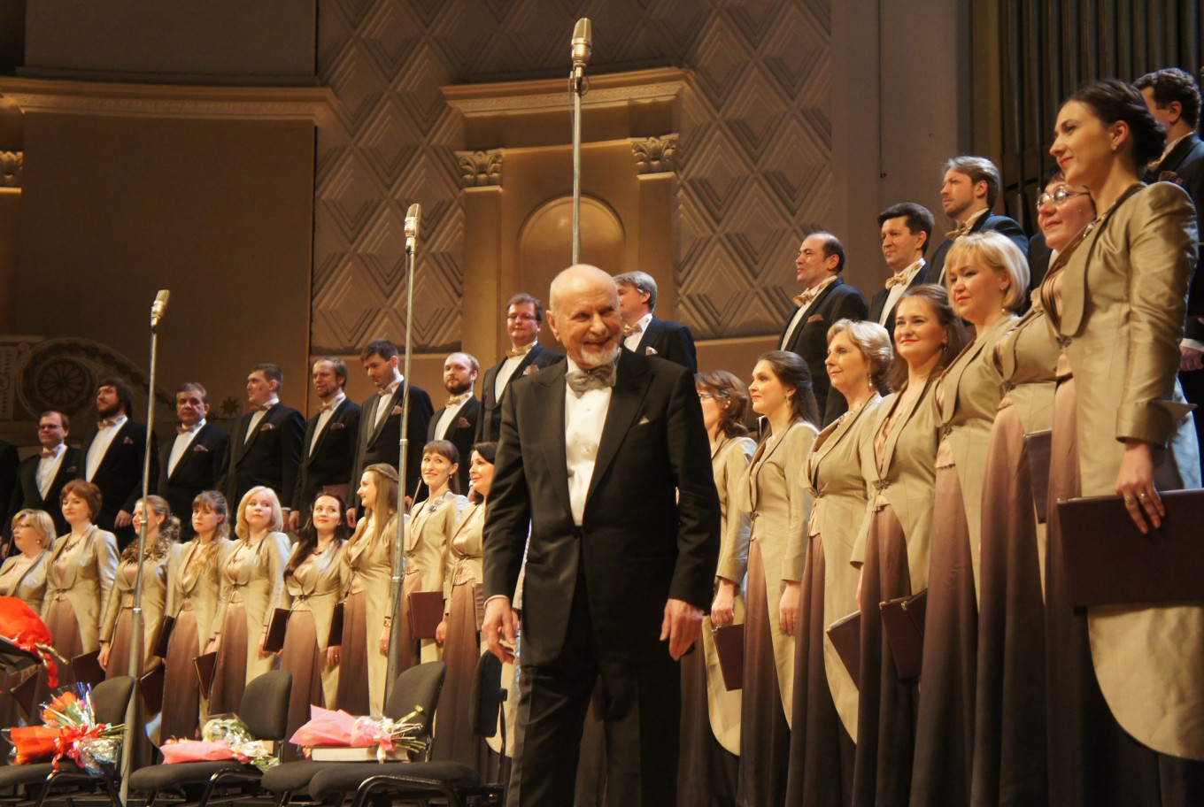 Founder Vladimir Minin has led the Moscow Chamber Choir since its first concert at the House of Scientists on April 23, 1972. ILYA MARSHAK