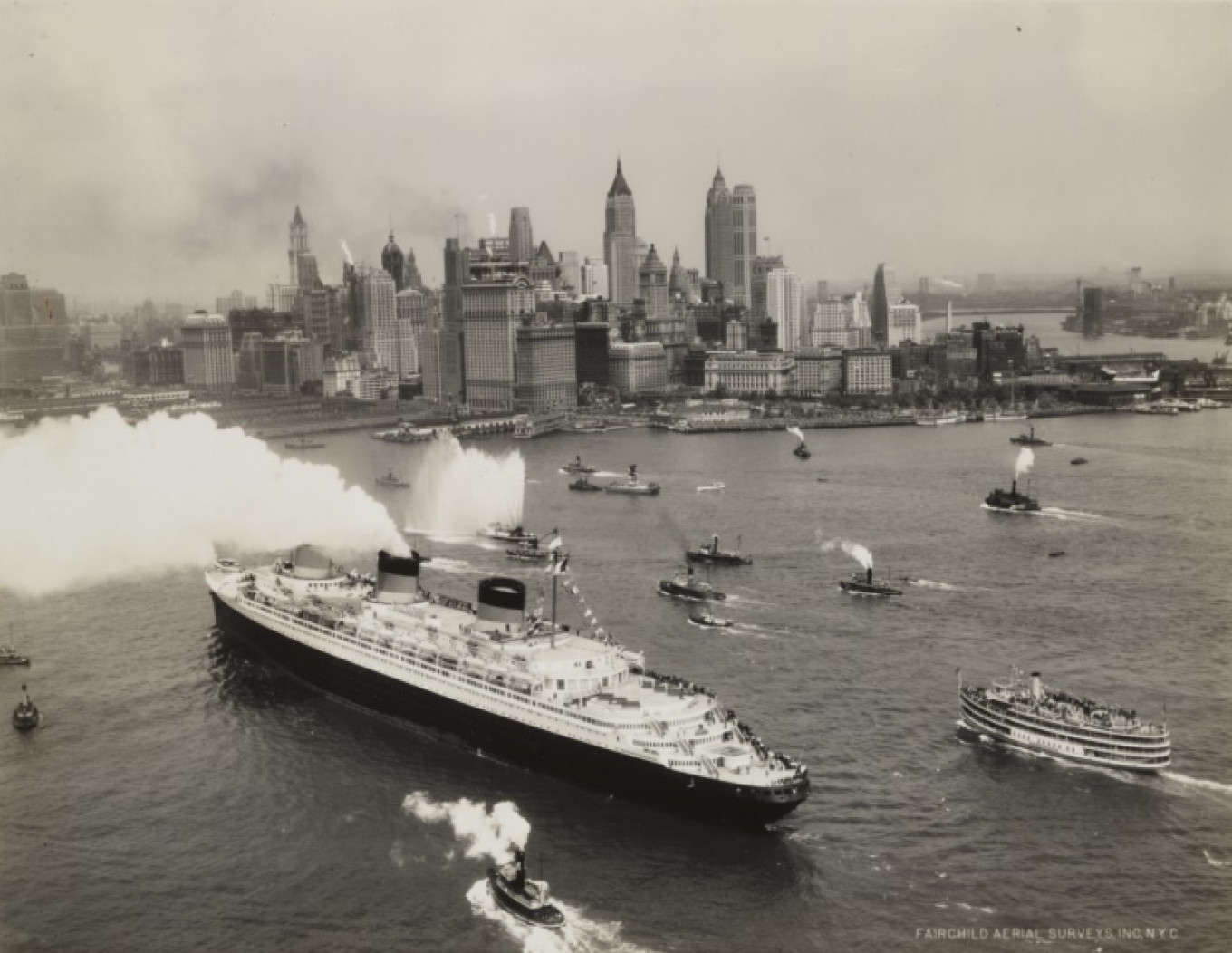 The SS Normandie leaving New York. The liner's designer Vladimir Ivanovich Yourkevitch is the subject of a documentary on Tuesday. ROBERT A. SMITH