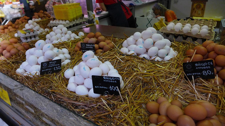 Eggs at Danilovsky Market Jennifer Eremeeva / MT